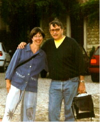 Maureen with Dr. Chauffour, 2000, Lyon, France